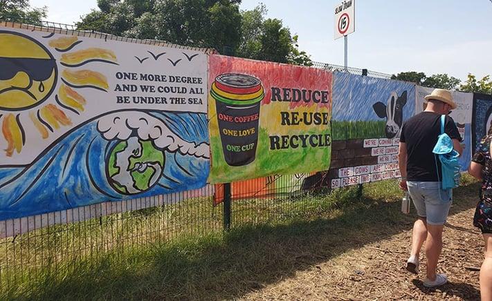 Environmental signs along Glastonbury path