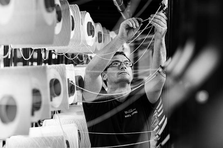 Martin working on machines