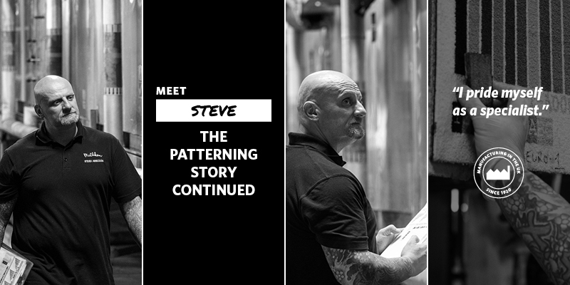 The Patterning Story Continued banner with Steve