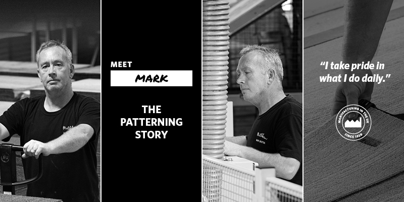 The Patterning Story banner with Mark